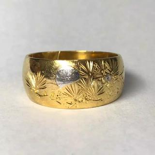 【みーちゃん様専用】K24 純金リング《リングサイズ14号》(リング(指輪))