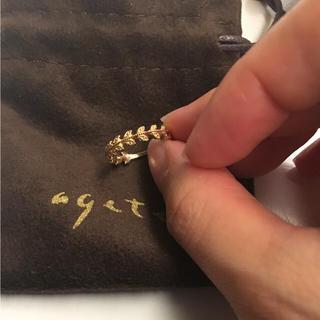 アガット(agete)のbonmomo様専用  美品 アガット リーフリング ピンキー 5号(リング(指輪))