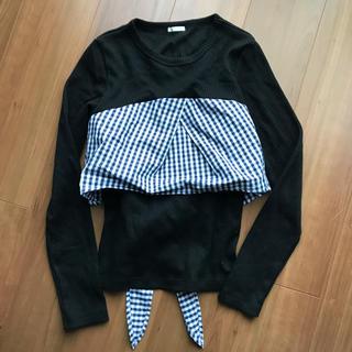 ジーユー(GU)のGU キャミソール付きカットソー(Tシャツ(長袖/七分))