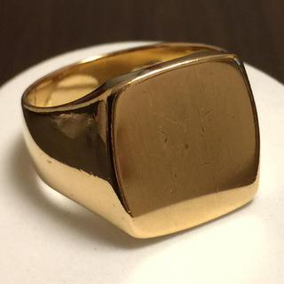 麗奈様専用 18金 指輪 印台 21号(リング(指輪))