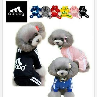 アディダス(adidas)の新品未使用☆アディダス風☆スウェットロンパース☆(犬)
