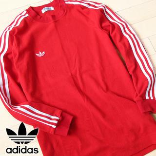 アディダス(adidas)の美品 Sサイズ アディダス 80'sヴィンテージ トレフォイル カットソー(Tシャツ/カットソー(七分/長袖))