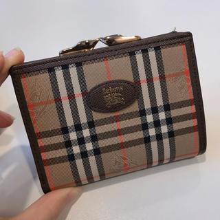 new product 93c28 26d08 BURBERRY 財布 がま口 二つ折り