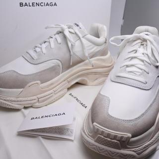 バレンシアガ(Balenciaga)のバレンシアガ トリプルS エス ホワイト 43 未使用 スニーカー シューズ 靴(スニーカー)