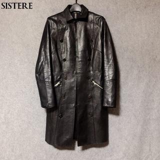 システレ(SISTERE)のシステレ☆SISTERE フック留め レザーロングコート 0(レザージャケット)