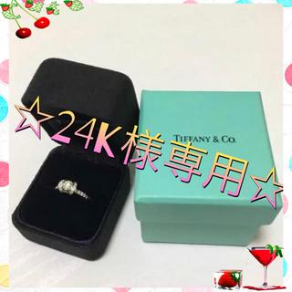 ティファニー(Tiffany & Co.)のティファニー ラウンドブリリアントリボンリング 6.5号 ダイヤモンド(リング(指輪))