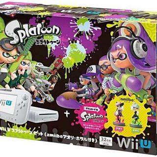 Wii U スプラトゥーンセット amiiboアオリ・ホタル付32G(家庭用ゲーム本体)