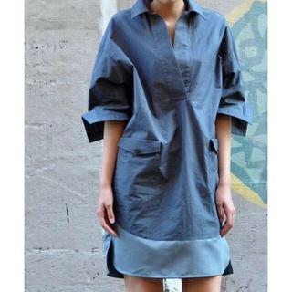 VIEアビィ/タイプライター ボックスシャツドレス シャツワンピ