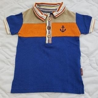 パーティチケット(PARTY TICKET)の90㎝ P-TICKET マリンポロシャツ ブルー(Tシャツ/カットソー)