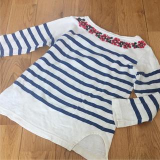 ゴートゥーハリウッド(GO TO HOLLYWOOD)のゴートゥーハリウッド刺繍ボーダーカットソー(Tシャツ/カットソー)