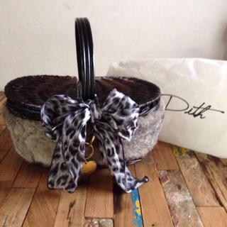 ディス(Dith)の新品✨Dith ラビットファーカゴバッグ(かごバッグ/ストローバッグ)
