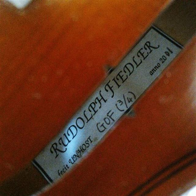 【高級ヨーロッパ材】ルドルフフィドラー GOF 3/4 バイオリン 2001 楽器の弦楽器(ヴァイオリン)の商品写真