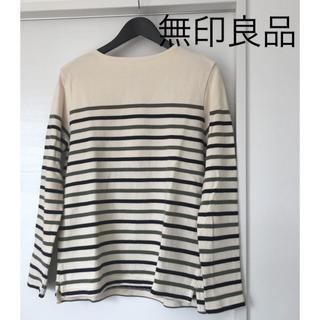 ムジルシリョウヒン(MUJI (無印良品))の無印良品 ボーダーカットソーmen's(Tシャツ/カットソー(七分/長袖))