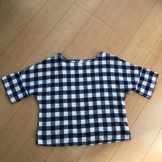 ジーユー(GU)のギンガムチェック トップス 半袖(シャツ/ブラウス(半袖/袖なし))