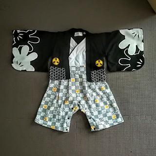 ディズニー(Disney)のなっつん様専用 ミッキー☆袴風ロンパース(和服/着物)