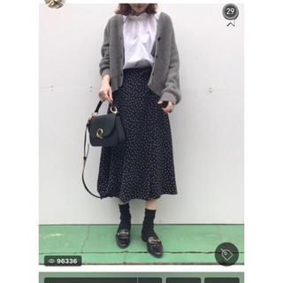 ジーユー(GU)のGU フレア ドット スカート(ロングスカート)