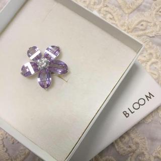 ブルーム(BLOOM)のBLOOM フラワーリング パープル 11号 美品(リング(指輪))