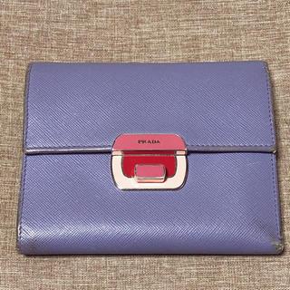 プラダ(PRADA)の《値下げ》プラダ 三つ折り財布 ★ パープル(財布)