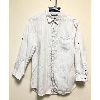 エービーエックス(abx)のabx ランダムストライプ シャツ メンズ ホワイト(シャツ)