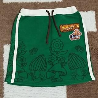 ラフアンドチープ(LAUGH & CHEAP)の110cm  美品 LAUGH&CHEAP  スウエット生地の可愛いスカート(スカート)