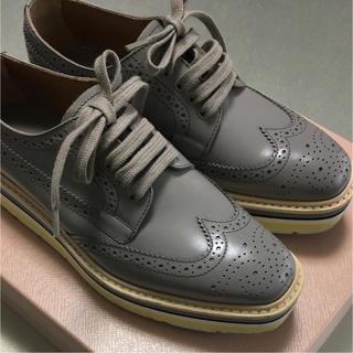 プラダ(PRADA)の【PRADA】美品ツインチップシューズ(ローファー/革靴)