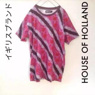 ハウスオブホーランド(HOUSE OF HOLLAND)の希少品 HOUSE OF HOLLAND 総柄 Tシャツ ワンピース(Tシャツ/カットソー(半袖/袖なし))