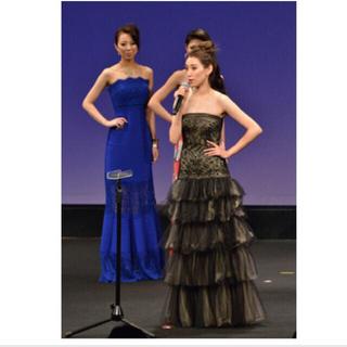 タダシショウジ(TADASHI SHOJI)のTADASHI タダシショージ ブラックロングドレス イブニング ミスアース着用(ロングドレス)