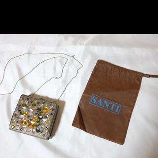 サンティ(SANTI)の未使用品 SANTI ビジュウ付きクラッチバッグ(クラッチバッグ)
