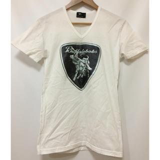 バッファローボブス(BUFFALO BOBS)のBUFFALO BOBS バッファローボブズ 白VネックTシャツ サイズ1 古着(Tシャツ/カットソー(半袖/袖なし))