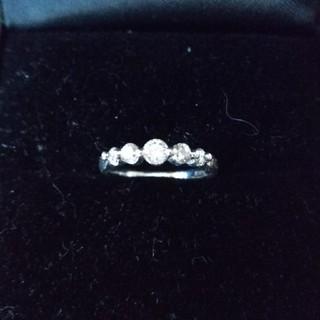 みー様専用プラチナ ダイヤモンド ピンキーリング(リング(指輪))