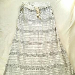 ソルベリー(Solberry)の新品 ロングスカート ソウルベリー アイボリー ナチュラル(ロングスカート)