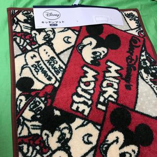 ディズニー(Disney)の【新品】アンティーク柄 ミッキー キッチンマット 120×45cm Disney(キッチンマット)