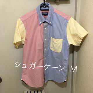 シュガーケーン(Sugar Cane)のUSA製シュガーケーン SUGAR CANE 半袖 ボタンダウンシャツ M相当(シャツ)