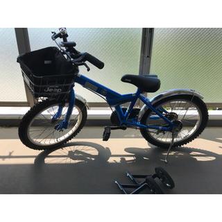 ジープ(Jeep)のJeep 子ども用 自転車 18インチ ブルー 男の子 (自転車)