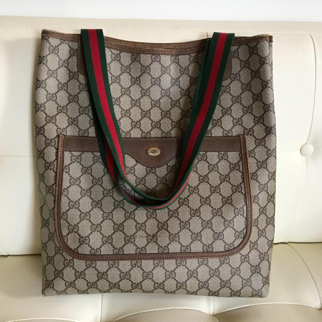 aacec48b3578 Gucci(グッチ)の紙タグ付き GUCCI オールドグッチ シェリーライン トートバッグ レディース
