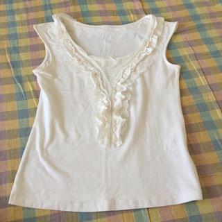 クレデヴェール(cledevers)のクレデヴェール 白ノースリーブTシャツ(Tシャツ(半袖/袖なし))