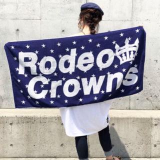 ロデオクラウンズワイドボウル(RODEO CROWNS WIDE BOWL)の新品未使用 ロデオ ビーチタオル ノベルティ(その他)