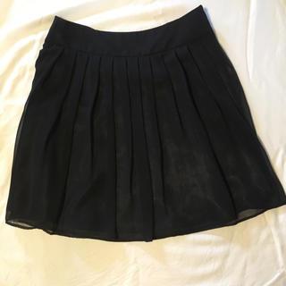 ノーブル(Noble)のNoble黒スカート【再値下げ】(ひざ丈スカート)