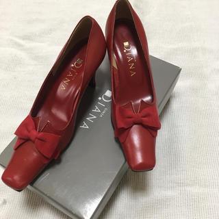 ダイアナ(DIANA)のダイアナ DIANA 21cm 赤 靴 パンプス (ハイヒール/パンプス)