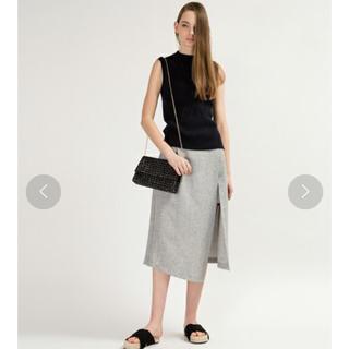 アグノスト(AGNOST)の美品 アグノスト AGNOST スカート ラップスカート38 紺 (ロングスカート)