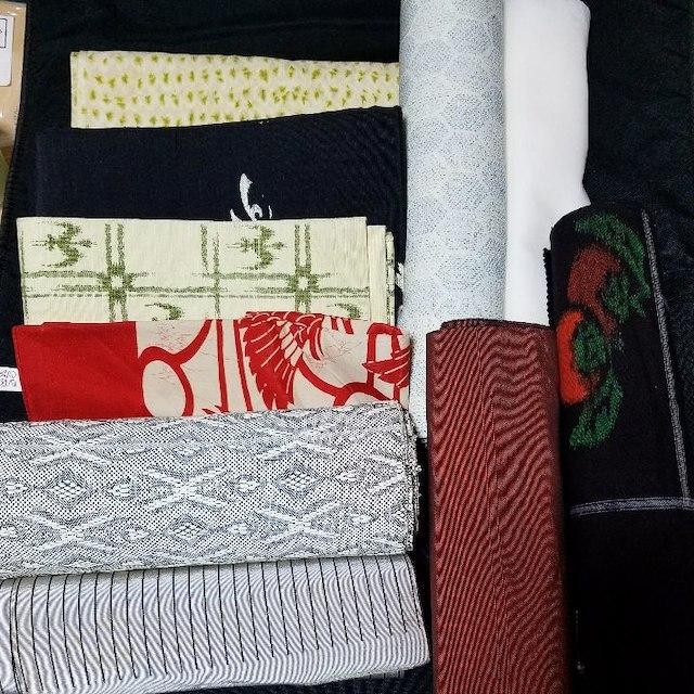 【はぎれ,布,着物】多様生地混合 袋帯 材料 素材 古布 茶道 着付