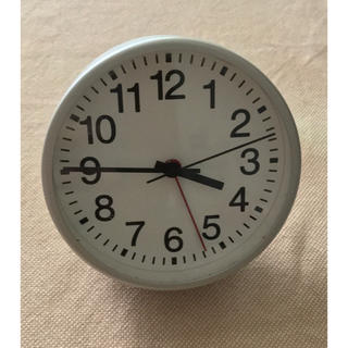 新品未使用ムジmuji無印良品ブナ材置時計アラーム付