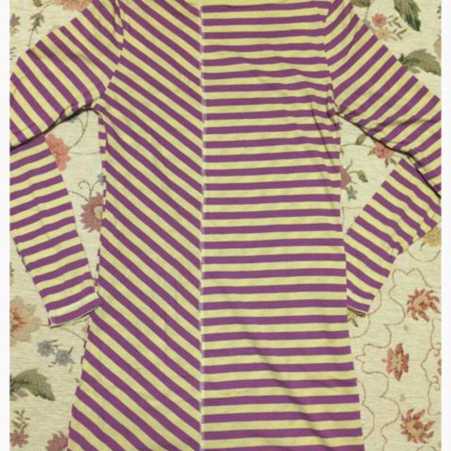 ボーダーロングTシャツ レディースのトップス(Tシャツ(長袖/七分))の商品写真