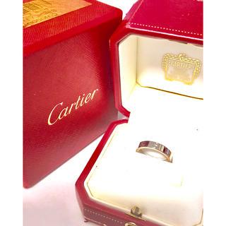 カルティエ(Cartier)のカルティエ ラブリング   WG ホワイトゴールド 47号 箱付き 新品同様(リング(指輪))