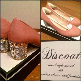 ディスコート(Discoat)のDiscoat ビジュー付きヒール(ハイヒール/パンプス)