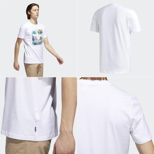 adidas(アディダス)のXS【新品/即日発送OK】adidas オリジナルス Tシャツ フローラル 白 メンズのトップス(Tシャツ/カットソー(半袖/袖なし))の商品写真