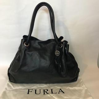 d0252f1e35f2 フルラ(Furla)の美品 FURLA カルメン レザートート A4収納可 ブラック 黒