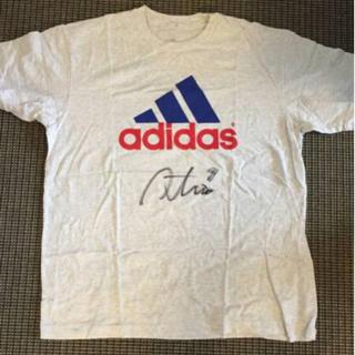 アディダス(adidas)のadidas Tシャツ 三浦淳宏 実使用 直筆サイン入り日本代表(スポーツ選手)