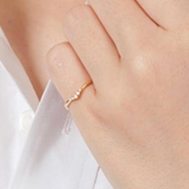 ete(エテ)のete K10 ダイヤ ピンキーリング レディースのアクセサリー(リング(指輪))の商品写真