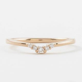 エテ(ete)のete K10 ダイヤ ピンキーリング(リング(指輪))